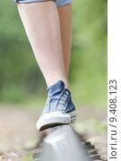 Купить «teenager legs walking balance walk», фото № 9408123, снято 23 мая 2019 г. (c) PantherMedia / Фотобанк Лори