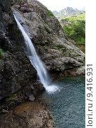 Купить «Водопад ручья Санчаро, КЧР», фото № 9416931, снято 13 июня 2015 г. (c) Оглоблин Андрей Николаевич / Фотобанк Лори