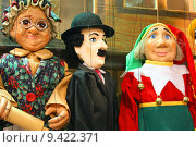 Купить «Traditional puppets - three figures», фото № 9422371, снято 10 июля 2020 г. (c) PantherMedia / Фотобанк Лори
