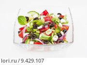 Купить «Fresh salad isolated.», фото № 9429107, снято 22 мая 2019 г. (c) PantherMedia / Фотобанк Лори