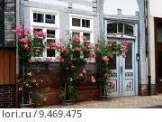 Купить «old building house facade roses», фото № 9469475, снято 24 октября 2018 г. (c) PantherMedia / Фотобанк Лори