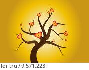 Купить «symbol tree love heart branch», фото № 9571223, снято 15 декабря 2018 г. (c) PantherMedia / Фотобанк Лори