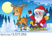 Winter scene with Christmas theme 1. Стоковая иллюстрация, иллюстратор Klara Viskova / PantherMedia / Фотобанк Лори