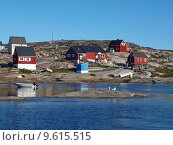 Купить «Oqaatsut village, Greenland», фото № 9615515, снято 21 марта 2019 г. (c) PantherMedia / Фотобанк Лори