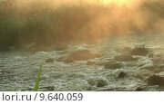 Рассвет над рекой. Стоковое видео, видеограф Антон Глущенко / Фотобанк Лори