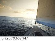 Купить «Sailing to the sunrise », фото № 9658947, снято 20 июня 2019 г. (c) PantherMedia / Фотобанк Лори