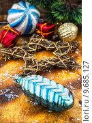 Купить «Старые новогодние елочные игрушки», фото № 9685127, снято 14 августа 2015 г. (c) Николай Лунев / Фотобанк Лори