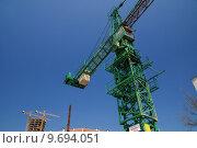 construction site with cranes. Стоковое фото, фотограф benis arapovic / PantherMedia / Фотобанк Лори