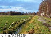 Купить «field meadow trench barbed wire», фото № 9714359, снято 23 марта 2019 г. (c) PantherMedia / Фотобанк Лори