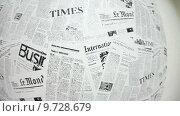 Купить «Газетный фон, иностранная пресса», видеоролик № 9728679, снято 21 июня 2015 г. (c) Кекяляйнен Андрей / Фотобанк Лори