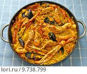 Купить «Paella Valenciana, typical food of Spain», фото № 9738799, снято 19 марта 2019 г. (c) PantherMedia / Фотобанк Лори
