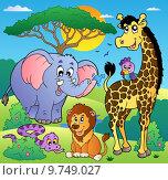 Купить «Savannah scenery with animals 2», иллюстрация № 9749027 (c) PantherMedia / Фотобанк Лори