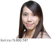 Купить «asian woman with smile», фото № 9800747, снято 18 июня 2019 г. (c) PantherMedia / Фотобанк Лори