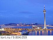 Купить «Urban landscape of Macau with famous traveling tower under sky near river in Mac», фото № 9804059, снято 24 февраля 2019 г. (c) PantherMedia / Фотобанк Лори
