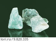 Three green aventurine mineral stones. Стоковое фото, фотограф Manfred Angermayr / PantherMedia / Фотобанк Лори