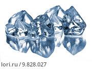 Купить «the ice cubes on glass table», фото № 9828027, снято 23 февраля 2019 г. (c) PantherMedia / Фотобанк Лори