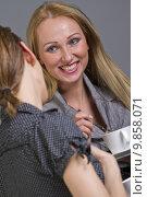 Купить «happy talking girls», фото № 9858071, снято 4 апреля 2020 г. (c) PantherMedia / Фотобанк Лори
