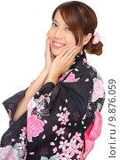 Купить «Japanese woman with traditional clothing», фото № 9876059, снято 20 февраля 2019 г. (c) PantherMedia / Фотобанк Лори