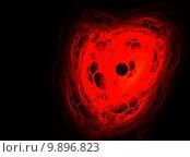 Абстрактное фрактальное сердце. Стоковая иллюстрация, иллюстратор Юлия Нигматуллина / Фотобанк Лори
