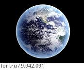 Купить «Earth - Isolated on Black», фото № 9942091, снято 18 января 2019 г. (c) PantherMedia / Фотобанк Лори