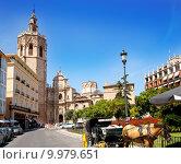 Купить «Valencia El Miguelete Micalet cathedral», фото № 9979651, снято 23 апреля 2019 г. (c) PantherMedia / Фотобанк Лори