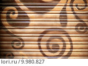 Купить «background painted metal blinds texture», фото № 9980827, снято 21 мая 2019 г. (c) PantherMedia / Фотобанк Лори