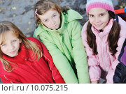 Купить «friendship and teamwork concept with young schoolgirls group», фото № 10075215, снято 17 августа 2018 г. (c) PantherMedia / Фотобанк Лори
