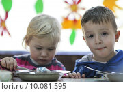 Купить «preschool  kids», фото № 10081595, снято 25 мая 2019 г. (c) PantherMedia / Фотобанк Лори