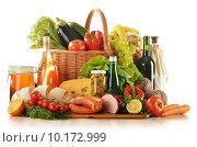 Купить «Composition with variety of grocery products», фото № 10172999, снято 18 января 2019 г. (c) PantherMedia / Фотобанк Лори