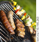Купить « Barbecue a hot summer evening, Grilling », фото № 10190263, снято 26 марта 2019 г. (c) PantherMedia / Фотобанк Лори