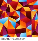 Купить «Abstract geometric pattern background», иллюстрация № 10208599 (c) PantherMedia / Фотобанк Лори