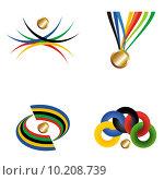 Купить «Gold medal with ribbon. Vector file layered for easy manipulatio», иллюстрация № 10208739 (c) PantherMedia / Фотобанк Лори