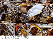 Купить «iron scrap metal compacted to recycle», фото № 10214703, снято 25 сентября 2018 г. (c) PantherMedia / Фотобанк Лори