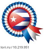 Купить «Cuba rosette flag», фото № 10219951, снято 22 февраля 2019 г. (c) PantherMedia / Фотобанк Лори