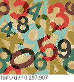 Купить «Vintage numbers pattern», иллюстрация № 10297907 (c) PantherMedia / Фотобанк Лори