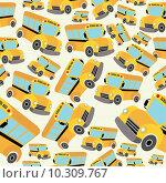 Купить «School bus pattern», иллюстрация № 10309767 (c) PantherMedia / Фотобанк Лори