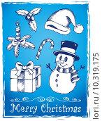 Купить «Christmas stylized drawings 2», иллюстрация № 10319175 (c) PantherMedia / Фотобанк Лори