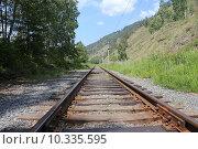 Купить «Кругобайкальская железная дорога, Иркутская область», эксклюзивное фото № 10335595, снято 1 июля 2015 г. (c) Алексей Гусев / Фотобанк Лори