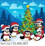 Winter theme with penguins 3. Стоковая иллюстрация, иллюстратор Klara Viskova / PantherMedia / Фотобанк Лори