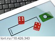 Купить «Playing dice for game online», фото № 10426343, снято 14 июля 2020 г. (c) PantherMedia / Фотобанк Лори