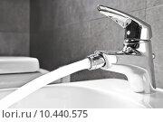 Купить «Bidet faucet water», фото № 10440575, снято 21 марта 2019 г. (c) PantherMedia / Фотобанк Лори