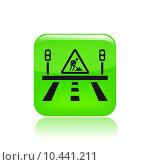 Купить «Vector illustration of single road icon», иллюстрация № 10441211 (c) PantherMedia / Фотобанк Лори
