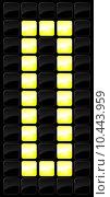 Купить «Vector illustration of console scoreboard number icon », иллюстрация № 10443959 (c) PantherMedia / Фотобанк Лори