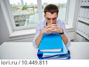businessman taking papers from secretary in office, фото № 10449811, снято 18 июня 2015 г. (c) Syda Productions / Фотобанк Лори