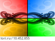 Купить «Four colours abstract waves», иллюстрация № 10452855 (c) PantherMedia / Фотобанк Лори