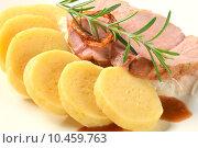 Купить «Pork with potato dumplings and white cabbage», фото № 10459763, снято 19 марта 2019 г. (c) PantherMedia / Фотобанк Лори