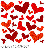 Купить «Valentine's Day background with hearts, wrapping paper», иллюстрация № 10476567 (c) PantherMedia / Фотобанк Лори