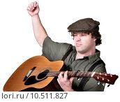 Купить «Serious Man Playing Guitar», фото № 10511827, снято 22 января 2019 г. (c) PantherMedia / Фотобанк Лори