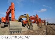 Купить «scoop construction site dredger baggern», фото № 10540747, снято 20 марта 2019 г. (c) PantherMedia / Фотобанк Лори