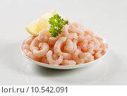Купить «Plateful of shrimps», фото № 10542091, снято 20 апреля 2018 г. (c) PantherMedia / Фотобанк Лори